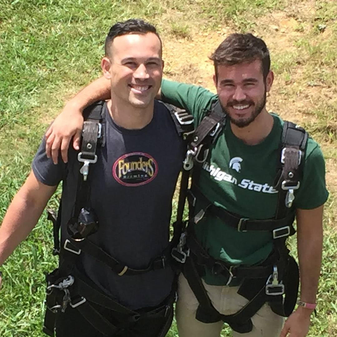 Skydiving with my brother