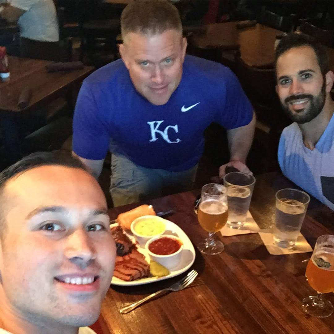 Enjoying some good Kansas City BBQ