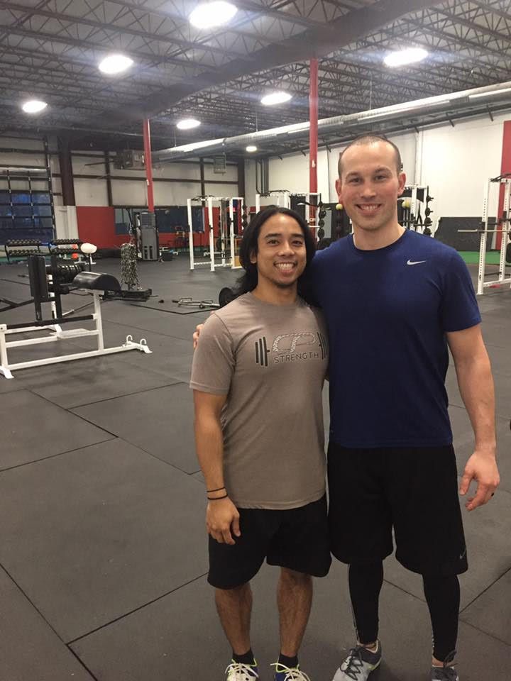 Coach Miguel and I at Cressey Sports Performance – (March)